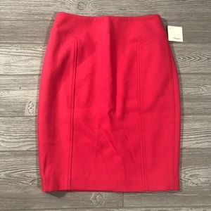 Halogen • Petite Fever Pink Pencil Skirt